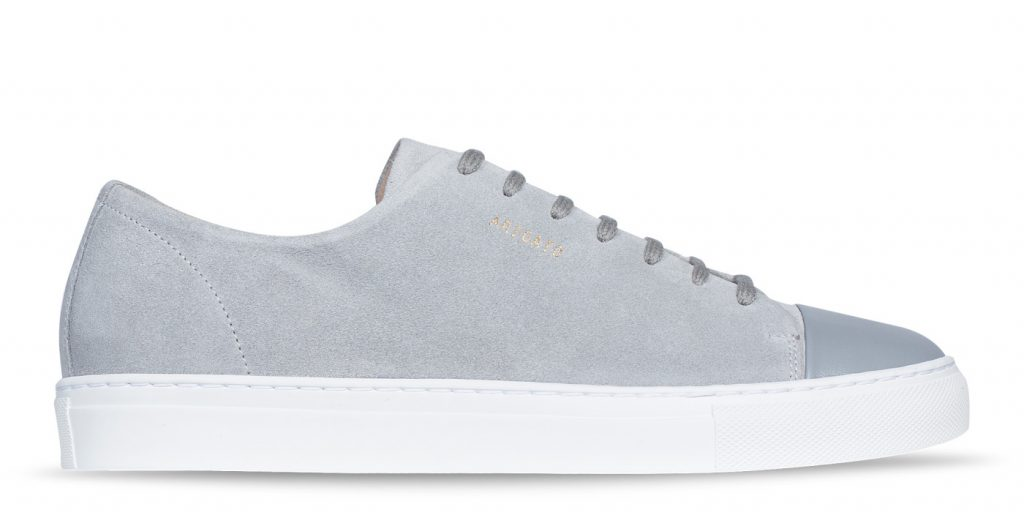 Cap-toe Sneaker, Suede with Leather Toe